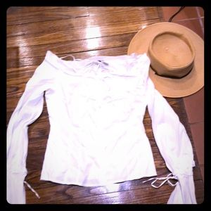 ANNE FONTAINE Iconic White Shirt BELL SLEEVE